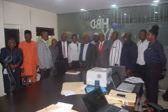 Lead Consulting Firm J.K Naiyeju Flanked by the Lagos State Accountant General Dr. Biodun Muritala and IVA Team members during the APA Exercise