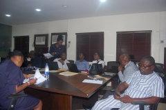 OAuGF IVA team conducting annual performance assessment APA at the Lagos State Secretariat Alausa on 12th-12-2019