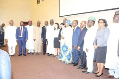 Inauguration of the SFTAS National Steering Committee by the Honourable Minister of Finance, Budget and National Planning, Mrs. (Dr.) Zainab Shamsuna Ahmed at the Ministry's Auditorium on Tuesday  (