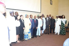 Inauguration of the SFTAS National Steering Committee by the Honourable Minister of Finance, Budget and National Planning, Mrs. (Dr.) Zainab Shamsuna Ahmed at the Ministry's Auditorium on Tuesday